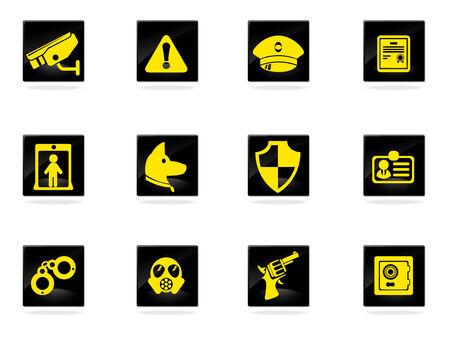 gas mask warning sign: Security symbols Illustration