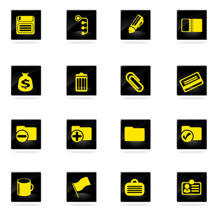 case binder: Office simple vector icons