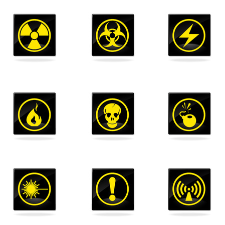 ionizing: Hazard Sign Icons
