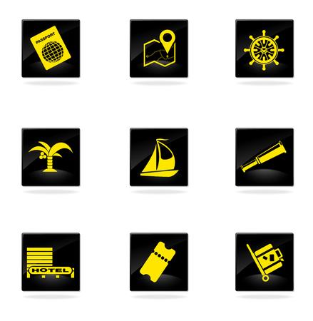 Reizen iconen Stockfoto - 33932500