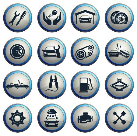 Auto Service Icons Stockfoto - 41169688
