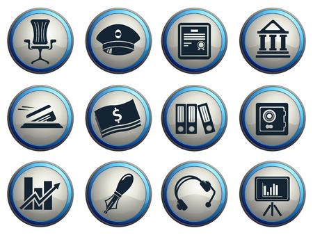 vaulted door: Finance Icons Illustration