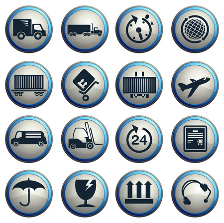 handsfree: cargo shipping symbols Illustration