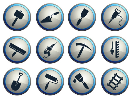 pick axe: Symbols of building equipment