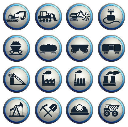 fuel storage tank: Factory and Industry Symbols Illustration