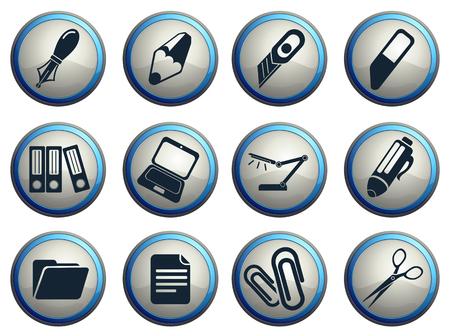 correttore: Icone vettoriali ufficio Vettoriali