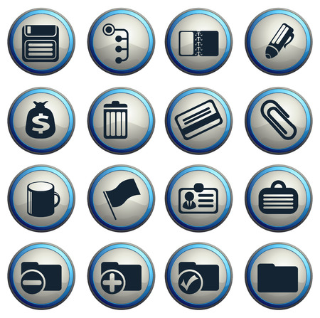 ring binder: Office simple vector icons