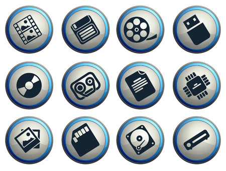 carriers: information carriers icons