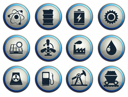 nuclear reactor: Icon Set, Energy and Industry