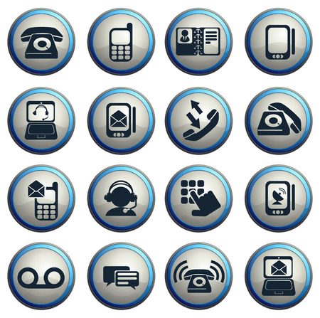 mobile voip: Telephone Icons