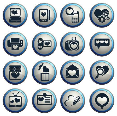 messages: love messages icon set