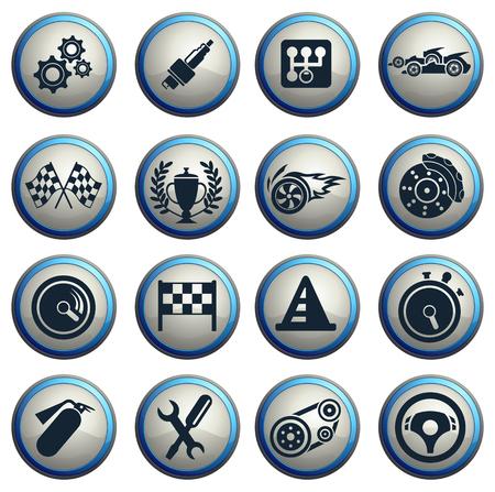 Racing pictogrammen Stockfoto - 41246560