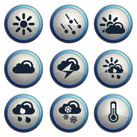 hailstone: Weather simple vector icons