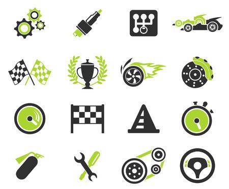 bandera carrera: Iconos de carreras Vectores
