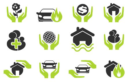insurance protection: insurance vector icons