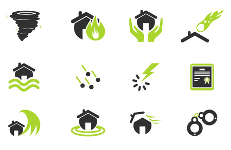 hailstone: Home Insurance Icons