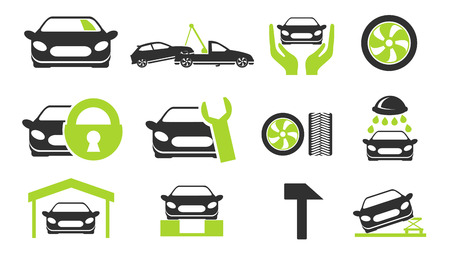 wheel guard: car srvice icons