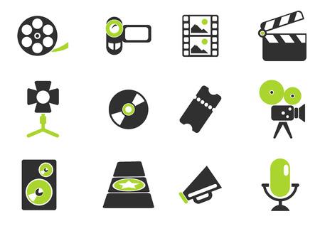 spotlight white background: Film Industry Icons