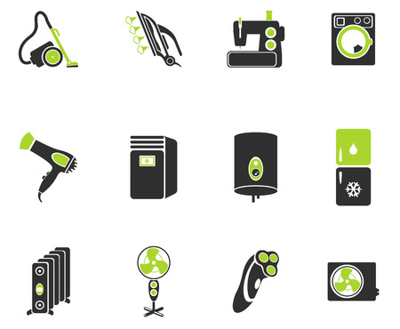 clothes washer: Home Appliances Icon Set