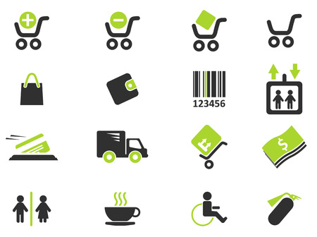 removing: Shopping icons Illustration
