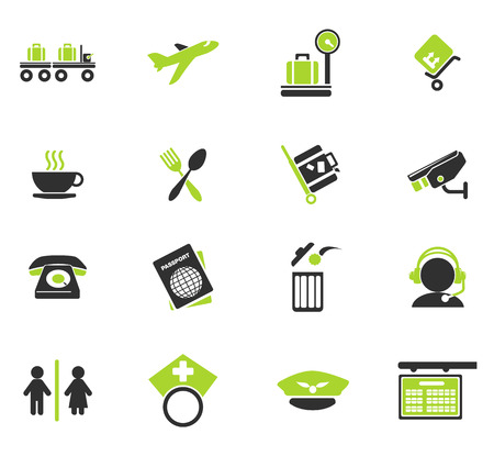 Airport icons Illustration
