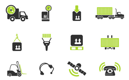 picking up: Logistics icons Illustration