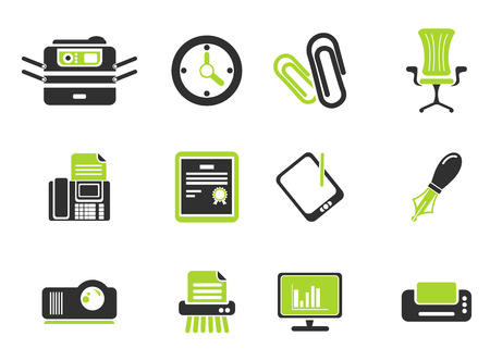 writing chair: Office simple vector icons