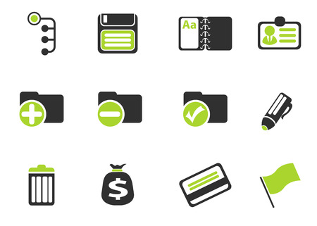 note pad and pen: Office simple vector icons