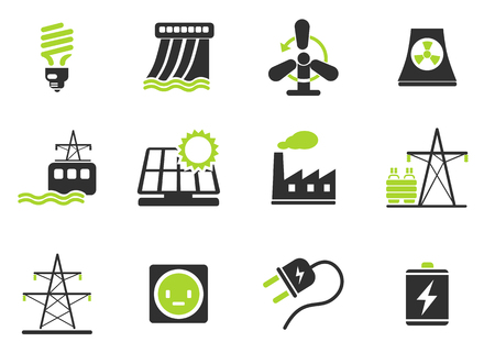 power icon: Icon Set, Energy and Industry