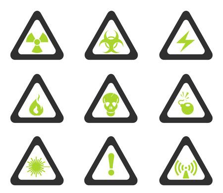 hazardous area sign: Iconos de la muestra del peligro Triangular