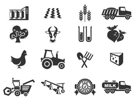agricultura: icono agrícola Vectores