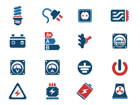 power meter: Electricity icon. simply symbol for web icons Illustration