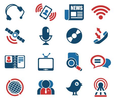 communicatie pictogrammen. gewoon symbool voor web iconen