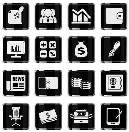 web icons: Business and Finance Web Icons. simply symbol for web icons
