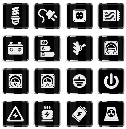 electric meter: Electricity icon. simply symbol for web icons Illustration