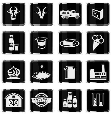 sour cream: Milk. simply symbol for web icons in eps 10