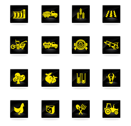 plow: agricultural icon. simply symbol for web icons