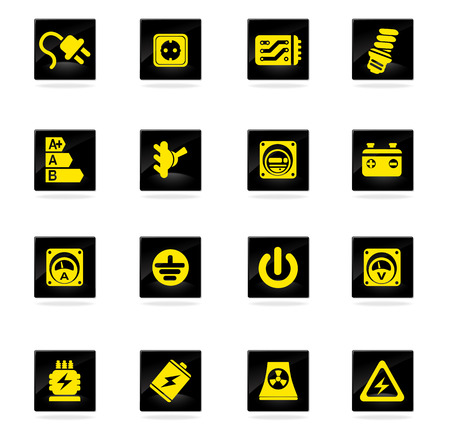 power station: Electricity icon. simply symbol for web icons Illustration