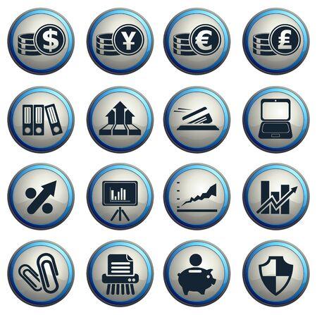 Negocios y finanzas web iconos. simplemente s�mbolo de iconos de la web Vectores