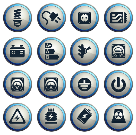 hydroelectric power station: Electricity icon. simply symbol for web icons Illustration