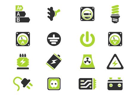energia electrica: Icono de la electricidad. simplemente símbolo de iconos de la web Vectores