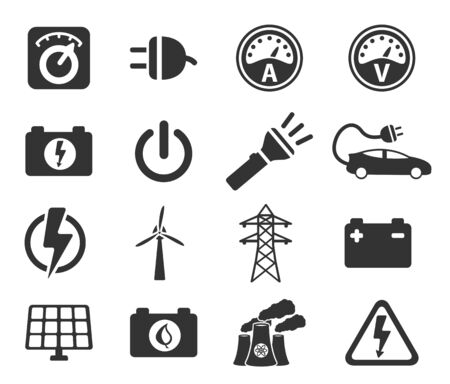 ammeter: Electricity simply icons Illustration