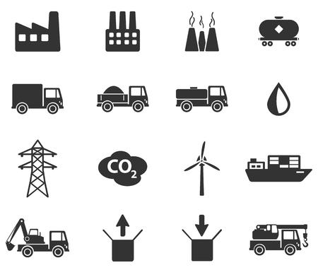Industrial simplemente Iconos