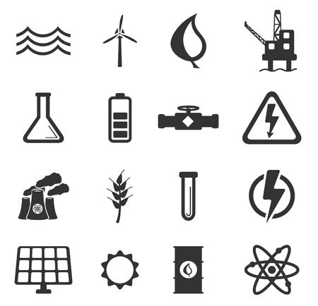 power generation: Power generation simply icons