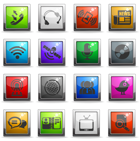 communication icons: communication icons. simply symbol for web icons