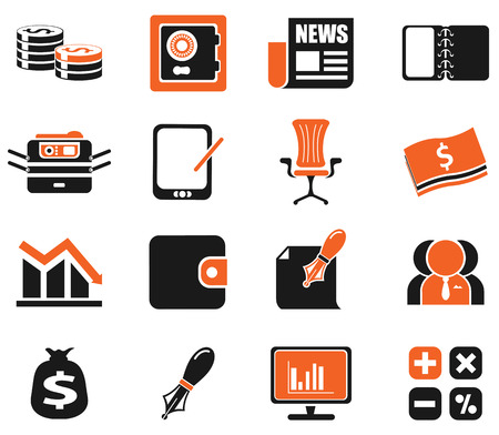 web icons: Business and Finance Web Icons . simply symbol for web icons