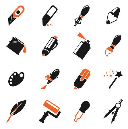 aerografo: Design tools. simply symbol for web icons Vectores