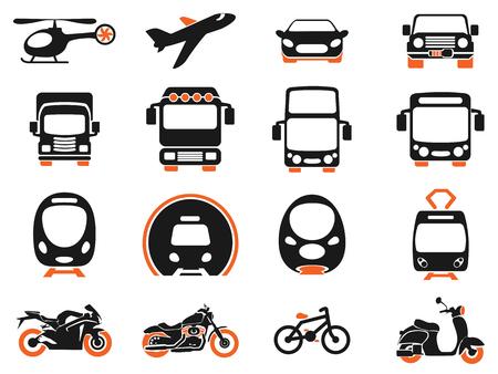 Vector illustratie van eenvoudige monochromatische voertuigenindustrie en transport gerelateerde pictogrammen voor uw ontwerp of toepassing. Stockfoto - 46333913