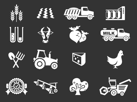 oat field: agricultural icon. simply symbol for web icons
