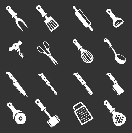 skimmer: kitchen tools. simply symbol for web icons